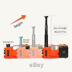 E-heelp Voiture Électrique Jack 5 Tonnes 12v Gamme De Levage Hydraulique Électrique De