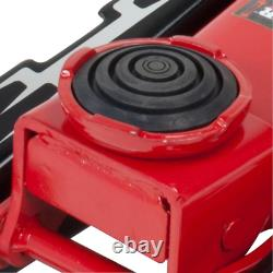 Garage Floor Jack W Swivel Saddle Fast Lift Universal Joint Heavy Duty 3.5-ton