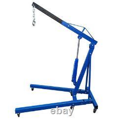 Grue Pliante De Moteur Bleu 1 Tonne Hoist Lift Workshop Hydraulic Lifting Jack