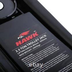 Hawk 2.5t 2.5 Ton Tonne 2500kg Low Profile Garage Car Van Lifting Trolley Jack