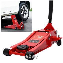 Heavy Steel Quick Lift Garage Trolley Jack 2.5 Ton Low Profile Floor Jack Stands