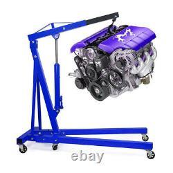Housse Hydraulique De Pliage 1ton Moteur Crane Hoist Lifter Jack Motor Gearbox Garage