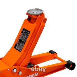 Jack De Sol 3-ton À Profil Bas Avec Ascenseur Rapide-orange