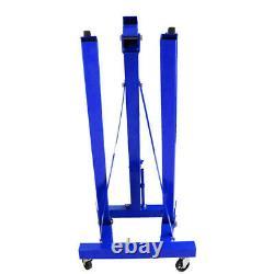 Lifter Hydraulique 1ton Pliant Crane De Moteur Stand Hoist Lift Jack Lifting Machine