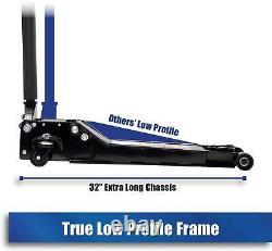 Low Profile Steel Service Jack Auto Garage Lifting Equipment Floor Noir 2 Tonne