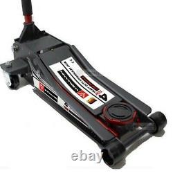 New Quick Lift Heavy Dual Duty Pump 4 Ton Ultra Low Profile Floor Trolley Jack