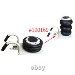 Nouveau 3 Tonnes (6600lbs)triple Bag Air Jack, Need External Gas Source, Pour Car Lift