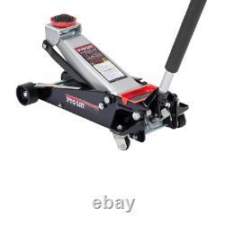 Pro Lift Floor Jack Garage Rubber Saddle Magnetic Tool Tray Heavy Duty 3-1/2 Tonne