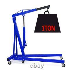 Professional 1ton Hydraulique Pliage Moteur Crane Stand Hoist Lift Jack Avec Roues