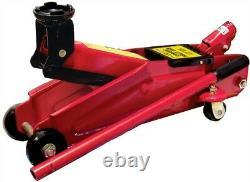 Red 3 Ton Tonne Heavy Duty Car Van Mechanic Hydraulic Handle Trolley Jack Lift