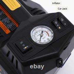 Rogtz Électrique Hydraulique Jack Set 12v 4 In1 Automatique 5 Ton Voiture Lift Noir