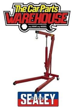 Sealey 1/2 Ton Tonne Engine Crane Stand Hoist Lift Jack Hydraulic Folding Red
