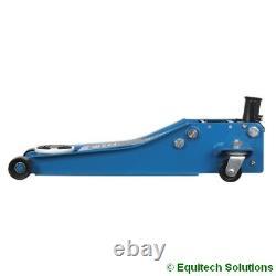 Sealey 2001lebl 2 Ton Chariot Jack 74mm Low Profile Entrée Rapide Lift Blue Rocket