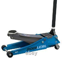 Sealey 2001lebl Trolley Jack 2.25 Ton Low Entry Rocket Lift Bleu