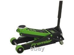 Sealey 4040ag Trolley Jack 4 Tonne Ton Rocket Quick Lift Green Car Van Garage