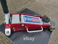 Sealey Tools Rjas2500 Trolley Jack 2.5 Ton 2.5t Aluminium & Steel Rocket Lift