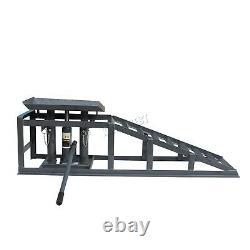 Suisse Véhicule Voiture Ramp Lift 2 Tonnes Garage Hydraulique Garage Heavy Duty Grey X 2
