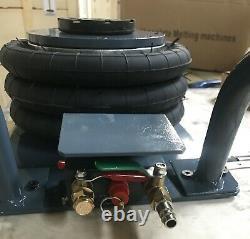 Techtongda 3 Tonnes Triple Sac Air Jack 6600lbs Outil De Levage Pneumatique Jack