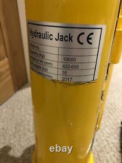 Total Livraison Hydraulique 10 Tonnes Toi Jack 420 650mm Lift Height Forklift