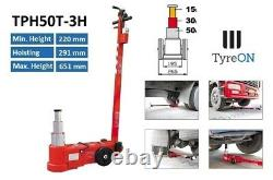 Tyreon Tph50t-3h Air Hydraulique Jack 50tons Lift 20.2-65.1cm 3 Stage Telecopic