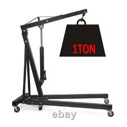 Uk Folding Engine Crane Stand Black Hydraulic Lift Lift Lift Jack 1 Tonne