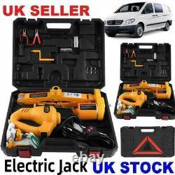 Voiture 12v DC 3 Tonnes Électric-jack Hydraulic Sol Lift Scissor Repair Tire De Changement