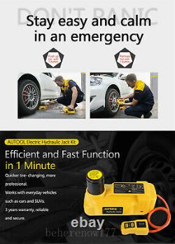 Voiture 6 T Ton Jacks Electric Floor Jacks Lift With Impact Wrench Portable 12v DC