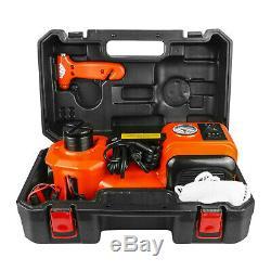 Voiture Électrique 5 Tonnes Jack Hydraulique Étage Scissor Lift Jack 12v DC Tire Change Kit