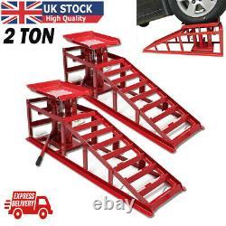 Voiture Ramps Lift 2 Ton Housse Hydraulique Jack Hauteur Réglable Garage En Hauteur Royaume-uni