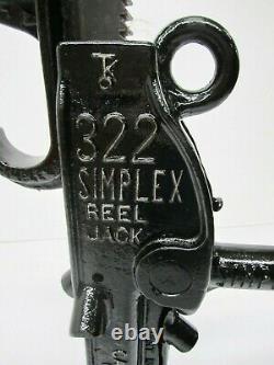 Vtg Templeton Kenley 322 Simplex Reel Railroad Jack 14 Lift 10 Ton Capacité